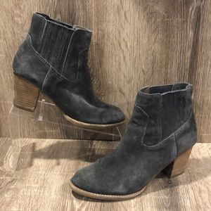 Dolce Vita Grey Suede Booties